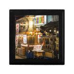 Escena japonesa de la ciudad cajas de regalo