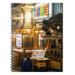 Escena japonesa de la ciudad cuaderno