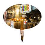 Escena japonesa de la ciudad decoración de tarta