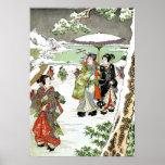 Escena japonesa del invierno poster