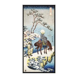 Escena japonesa fresca del invierno del asaltante  impresión en lona estirada
