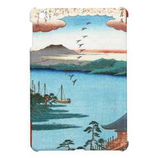 Escena japonesa fresca del waterscape del mar del iPad mini carcasas