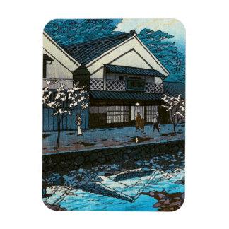 Escena japonesa oriental fresca de la calle del imanes