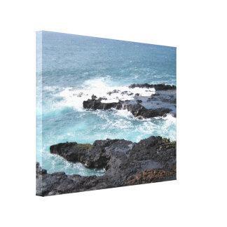 Escena Kauai del océano del arte de la lona Impresión En Lona Estirada