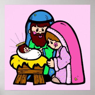 Escena linda de la natividad poster