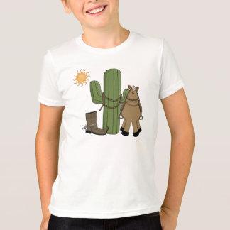 Escena linda del cactus del desierto del potro playera