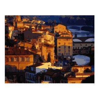 Escena magnífica de la puesta del sol de Florencia Postal