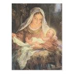 Escena Maria de la natividad del navidad y bebé Je Postal
