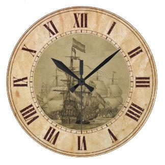 Escena marina reloj redondo grande