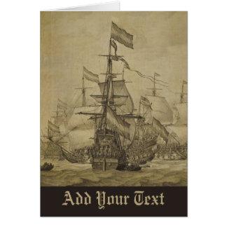 Escena marina tarjeta de felicitación