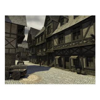 Escena medieval de la calle - 1 tarjetas postales