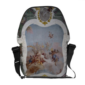 Escena mitológica con el zodiaco fresco bolsa de mensajeria