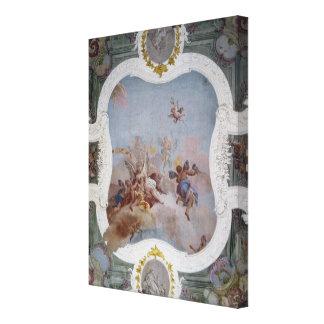 Escena mitológica con el zodiaco (fresco) impresiones de lienzo