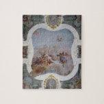 Escena mitológica con el zodiaco (fresco) puzzles con fotos