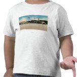 Escena municipal del campo de aterrizaje del camisetas