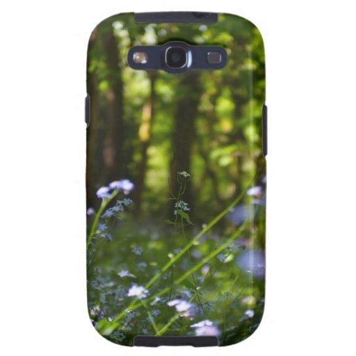 Escena natural de la primavera de maderas galaxy s3 cobertura