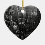 escena negra y blanca de New York City de la calle Adorno Para Reyes