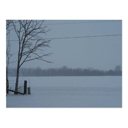 Escena Nevado de Indiana central Postales