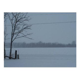 Escena Nevado de Indiana central Tarjetas Postales