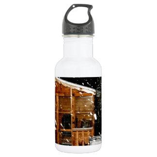 escena nevosa del winer de la casa de verano