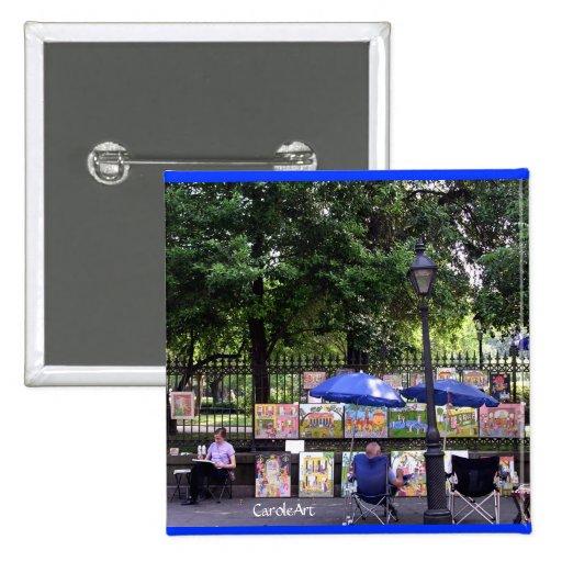 """""""Escena"""" NOLA del arte Pin Cuadrada 5 Cm"""