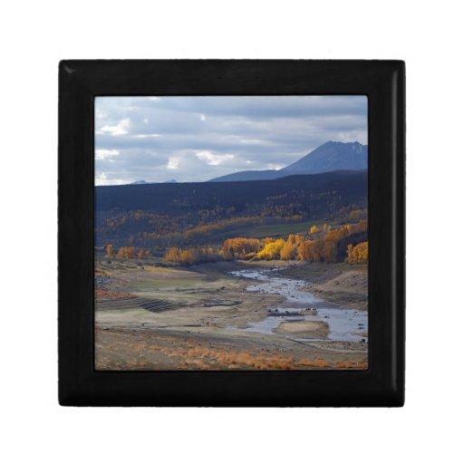 Escena norcentral de la montaña de Colorado Cajas De Joyas