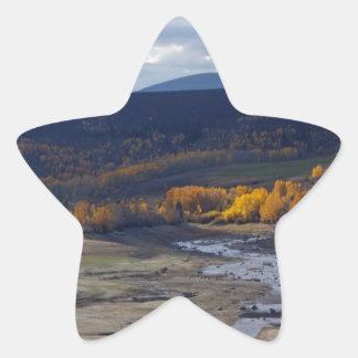 Escena norcentral de la montaña de Colorado Pegatina En Forma De Estrella