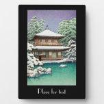 Escena oriental fresca del invierno de Hasui Kawas Placa Para Mostrar