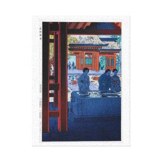 Escena oriental fresca del mercado de Shiro Kasama Impresiones En Lona