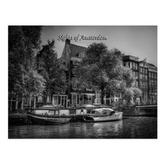 Escena pacífica del canal, vistas de Amsterdam Postales