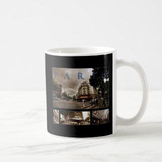 Escena parisiense del café taza de café