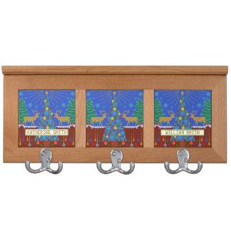 Escena personalizada del árbol de navidad del reno
