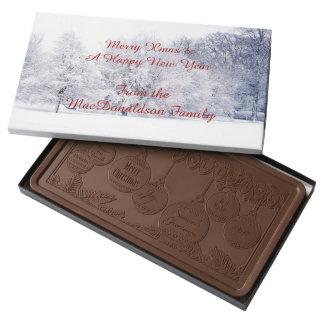 Escena personalizada tradicional de la nieve del barra de chocolate con leche grande