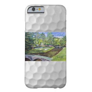 Escena pintada a mano del golfcourse en el caso funda de iPhone 6 barely there