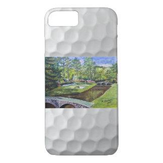 Escena pintada a mano del golfcourse en el caso funda iPhone 7