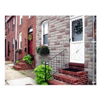 Escena pintoresca de la vecindad de Baltimore Postal