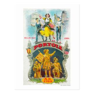 Escena promocional del festival de Portola Tarjeta Postal