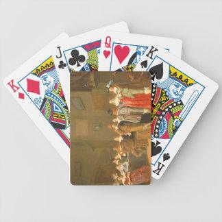 Escena que corteja, 1644 (aceite en lona) barajas de cartas