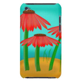 Escena roja de la flor del cono iPod touch cobertura
