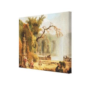 Escena romántica del jardín impresiones en lienzo estiradas
