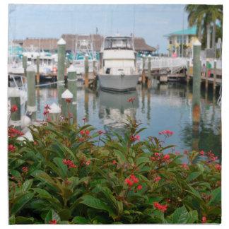 escena rosada de la Florida del puerto deportivo Servilleta De Papel