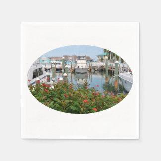 escena rosada de la Florida del puerto deportivo Servilletas De Papel