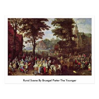 Escena rural de Bruegel Pieter el más joven Tarjetas Postales