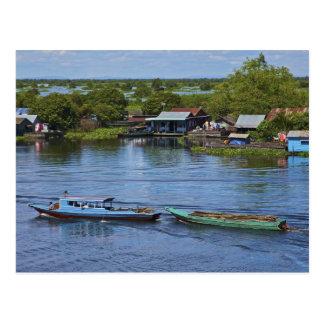 Escena rural, lago sap de Tonle, Siem Reap, Tarjetas Postales