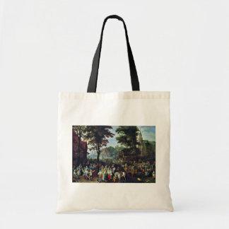 Escena rural por Bruegel D.J. Pieter (la mejor cal Bolsa De Mano