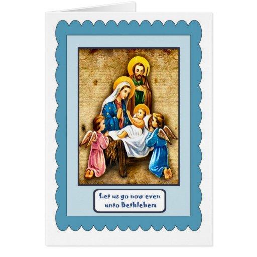 Escena santa tarjeta de felicitación