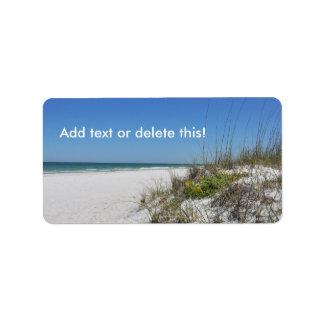 Escena serena de la playa de la Florida de la Etiqueta De Dirección