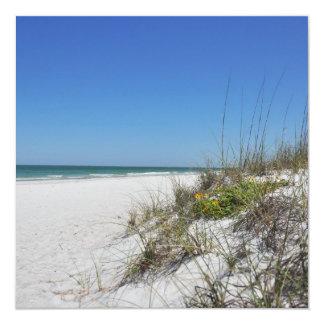 """Escena serena de la playa de la Florida de la Invitación 5.25"""" X 5.25"""""""
