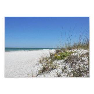 """Escena serena de la playa de la Florida de la Invitación 5"""" X 7"""""""