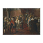 Escena silesia del homenaje, 1855 lona estirada galerias